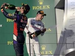 Ricciardo, Magnussen y Rosberg