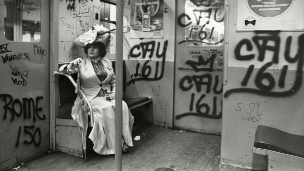 Editta Sherman on the Train to the Brooklyn Botanic Garden, ca. 1972