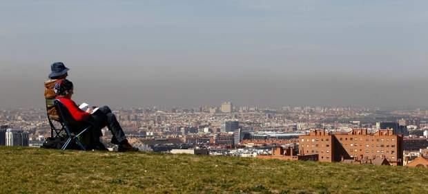 Madrid, con su 'boina' de polución.