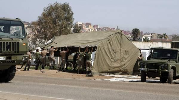 El Ejército colabora con el CETI