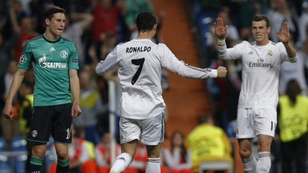 Cristiano y Bale ante el Schalke