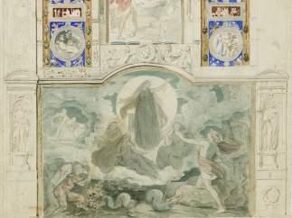 'Entwurf zur Zauberflöte', um 1852