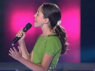 María, ganadora de la primera edición del 'La Voz Kids'
