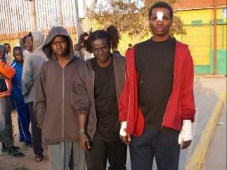 Daouda y dos chicos m�s