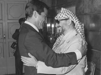 Visita de Arafat a Madrid