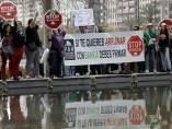 Stop Desahucios, frente a la junta de accionistas de Bankia