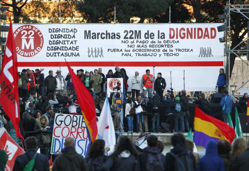 Escenario de la Marcha de la Dignidad
