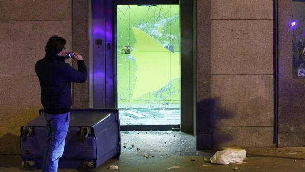 Destrozos en Madrid