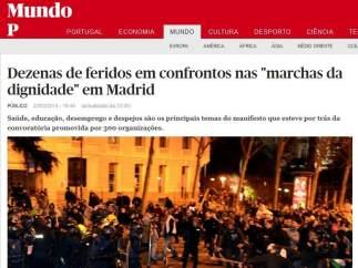 El diario portugués Publico
