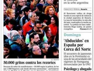 Portada el El País