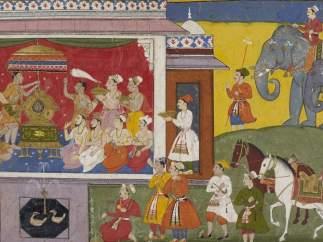 'Mewar Ramayana', Book 2, f.129r