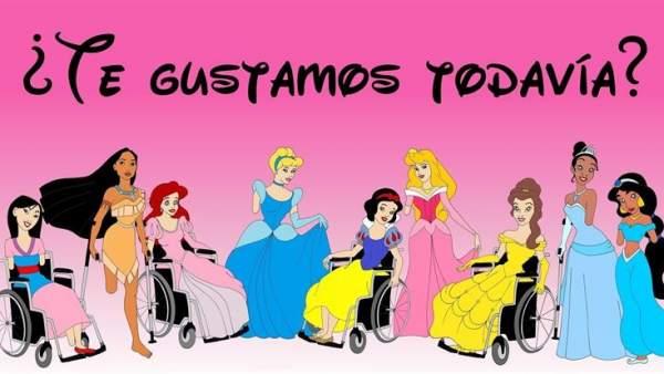 Princesas Disney con discapacidad