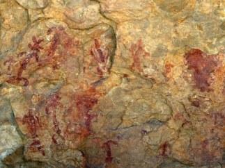 Imagen de las pinturas rupestres del Abrigo Remacha
