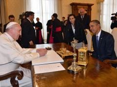 El Papa recibe a Obama en el Vaticano