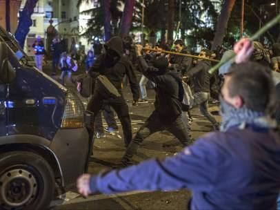 Disturbios tras las Marchas de la Dignidad