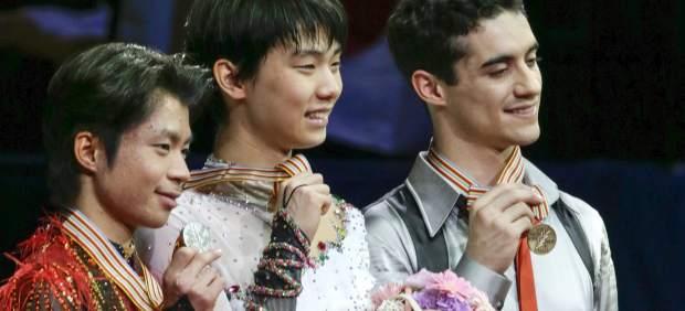 Javier Fernández, bronce mundial