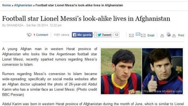 Descubren en Afganistán un 'gemelo' de Leo Messi y al que también le gusta el fútbol