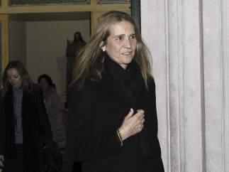 La infanta Elena, en el funeral de la madre de Marichalar