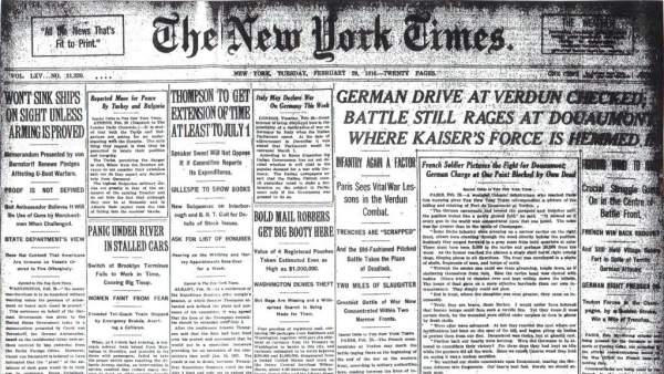 Primera Guerra Mundial - The New York Times