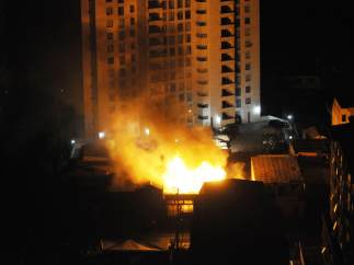 Incendios tras el terremoto