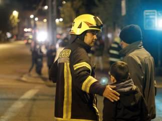 Evacuación en Valparaíso