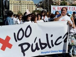 A favor de la sanidad pública