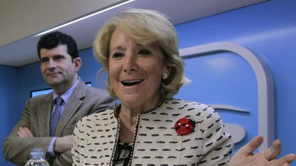 Esperanza Aguirre, durante la reunión del Comité de Dirección del PP de Madrid