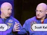 El astronauta Scott Kelly y su hermano Mark Kelly