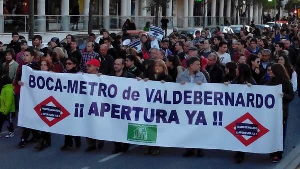 Manifestación en Valdebernardo