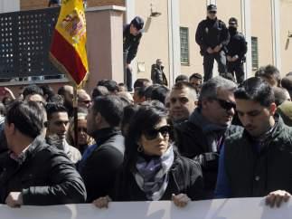 Protesta de los antidisturbios