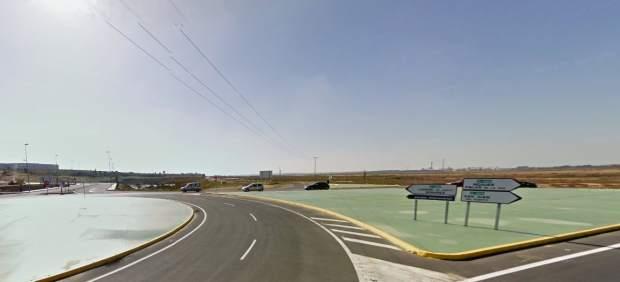 Accidente en una carretera de Huelva