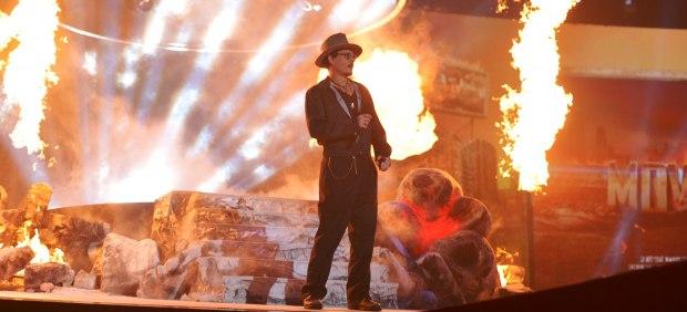 Johnny Depp en los MTV Movie Awards
