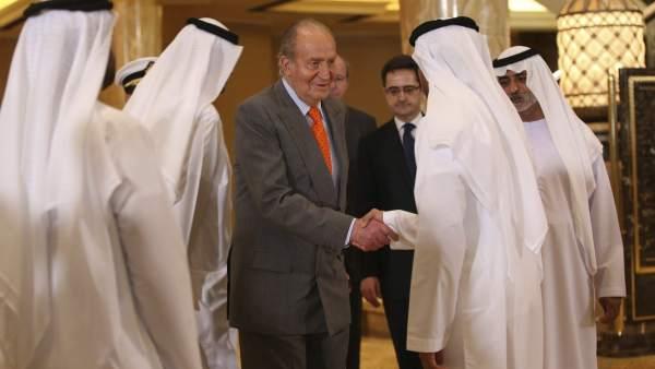 El rey Juan Carlos en Abu Dabi