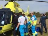 Helicóptero de Emergencias, en el accidente de Villanueva de Perales
