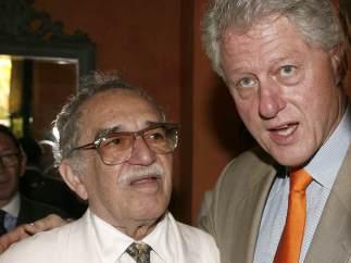 García Márquez y Bill Clinton