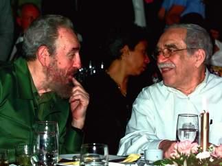 Carcía Márquez y Fidel Castro