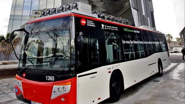 Autobús propulsado a gas