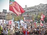 Protestas antirrecortes en Portugal