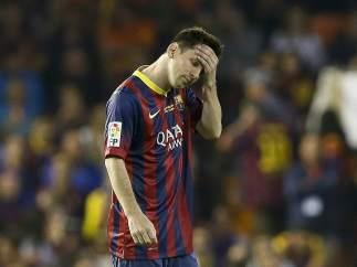 Messi se lamenta