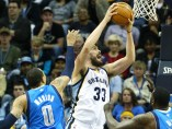 Marc Gasol contra los Maverick de Dallas