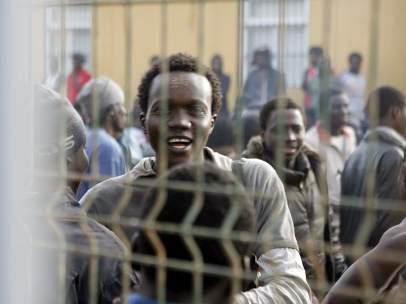 Inmigrantes en el CETI
