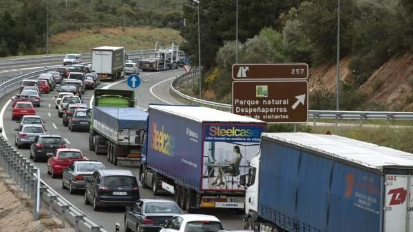 Tráfico colapsado en Despeñaperros.