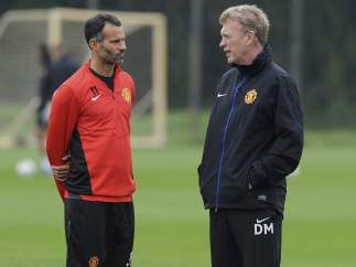 Ryan Giggs y David Moyes