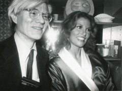 Andy Warhol Backstage with Raquel Welch, Interview Cover Girl, After Her Performance in Broadway's Woman of the Year 1981