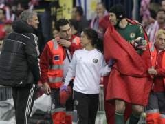 Petr Cech lesionado en el Calderón