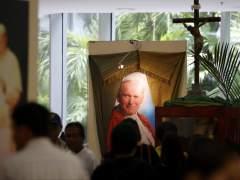 Muere un joven italiano por el derrumbe de una cruz dedicada al papa Juan Pablo II