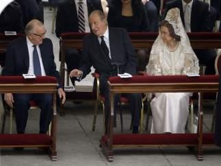 Los reyes, en la ceremonia de canonización