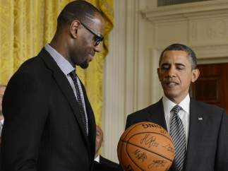 LeBron James y Barack Obama