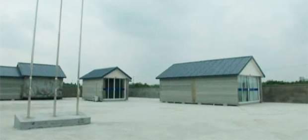 China construye casas en 3D