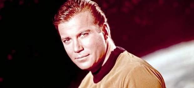 William Shatner as Captain Kirk.